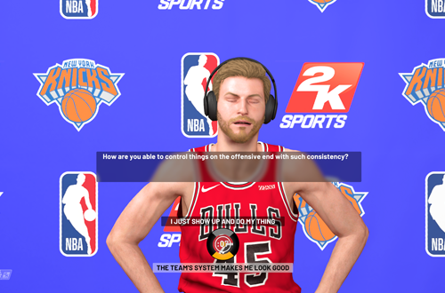 Repetitive Presentation in MyCAREER Interviews (NBA 2K19)