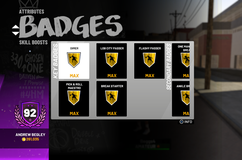 Maxed Out Badges in MyCAREER (NBA 2K19)