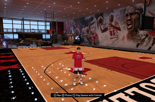 Bulls-themed MyCOURT in NBA 2K19