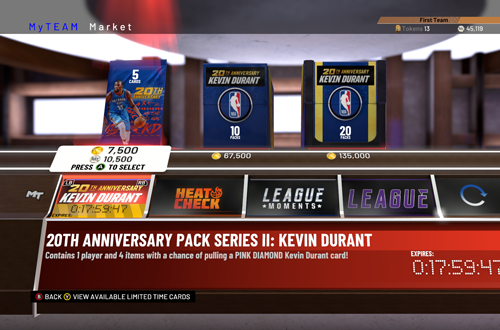 MyTEAM Packs (NBA 2K19)