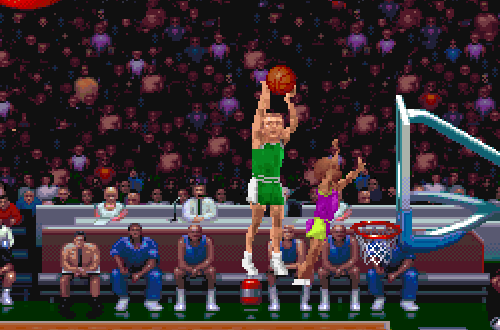 Larry Bird shoots a three in NBA Jam TE PC