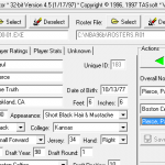 Editing the 2001 Season Roster for NBA Live 96