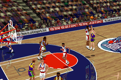 Jumpshots were difficult and easily blocked in NBA Live 96
