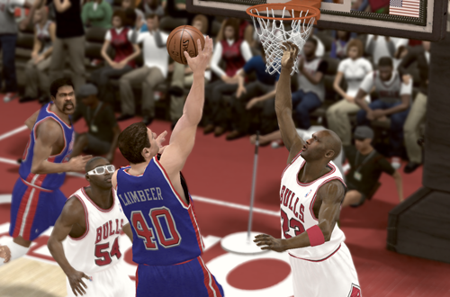Bulls vs Pistons in NBA 2K11