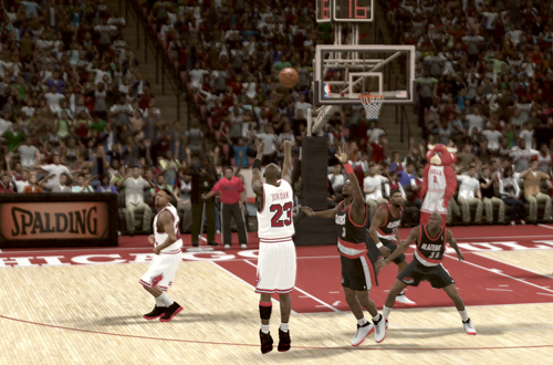 The Shrug Game in The Jordan Challenge (NBA 2K11)