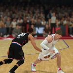 Clipping issues create canned moments that require better masking (NBA 2K19)