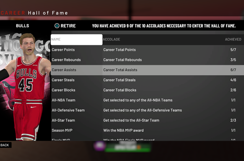 Hall of Fame Requirements in NBA 2K19