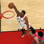 Kawhi Leonard dunks in NBA 2K19