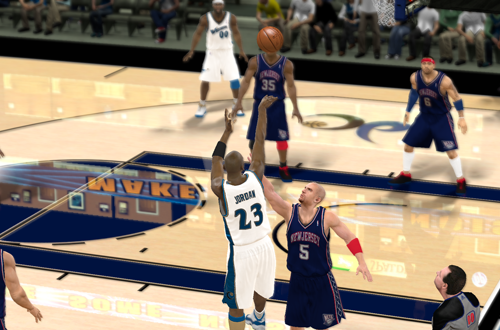 Wizards Jordan vs Jason Kidd (NBA 2K11)