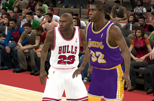 MJ vs Magic in NBA 2K11