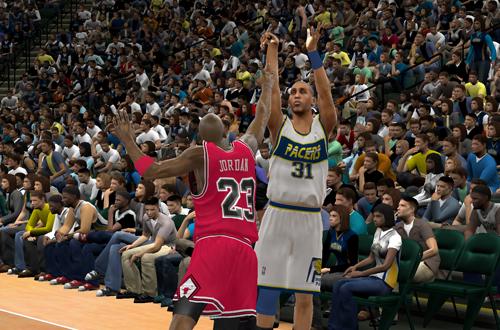 Michael Jordan vs Reggie Miller '89 (NBA 2K11)
