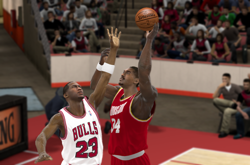 Michael Jordan vs Hakeem Olajuwon in NBA 2K11