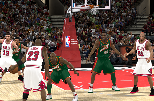 MJ vs The Glove in NBA 2K11