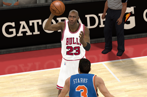 MJ vs John Starks (NBA 2K11)