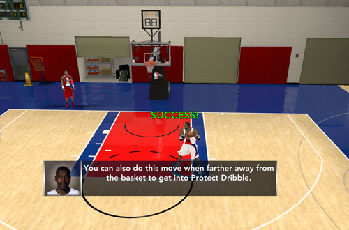 Completing a Drill in NBA 2K12