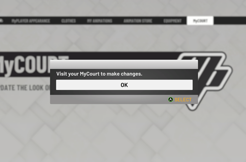 Attempting to access MyCOURT Options (NBA 2K19 MyCAREER)