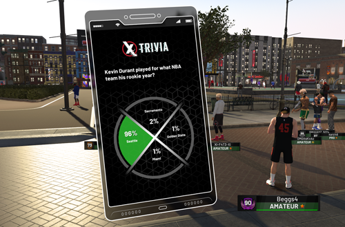 Playing Trivia in MyCAREER (NBA 2K19)
