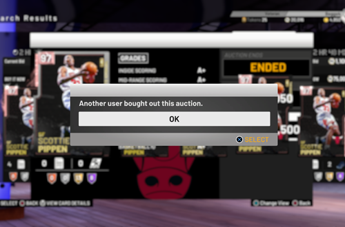 Problem with Bought Card in MyTEAM (NBA 2K19)
