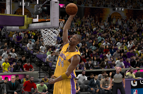 Kobe Bryant dunks in NBA 2K10