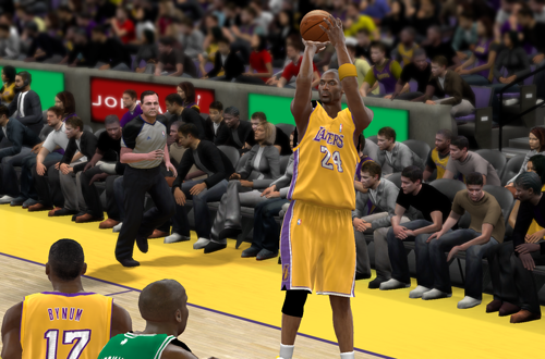 Kobe Bryant shoots in NBA 2K10