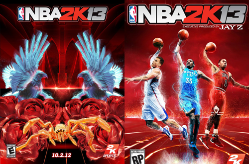 Mystery Teaser Cover & Real Cover for NBA 2K13