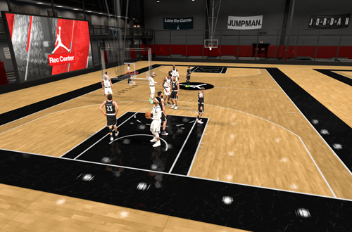 A Game in the Jordan Rec Center (NBA 2K19)