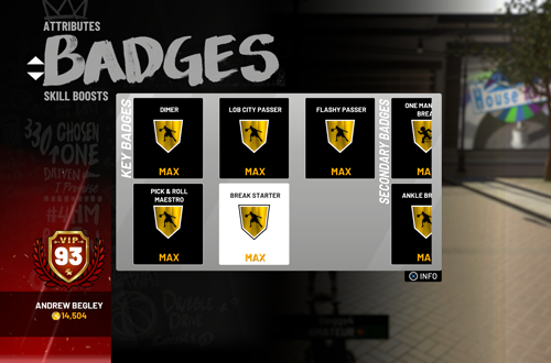 Maxed Out Badges in NBA 2K19