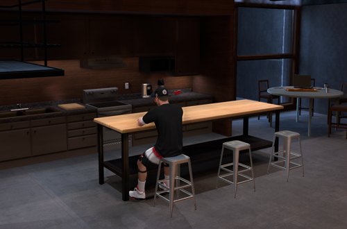 Sitting Around in MyCOURT (NBA 2K19)