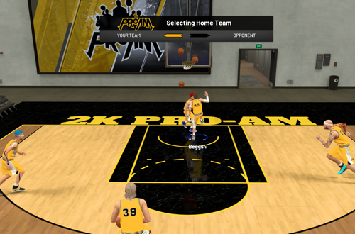 Pre-Game in 2K Pro-Am (NBA 2K19)