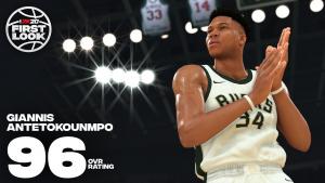 Giannis Antetokounmpo 96 Overall in NBA 2K20