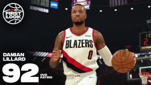 Damian Lillard 92 Overall in NBA 2K20