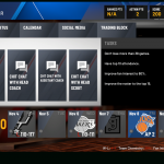 NBA 2K20 MyGM: User Interface