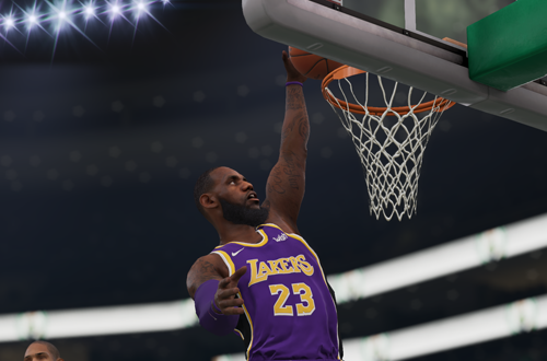 LeBron James Dunks in NBA Live 19
