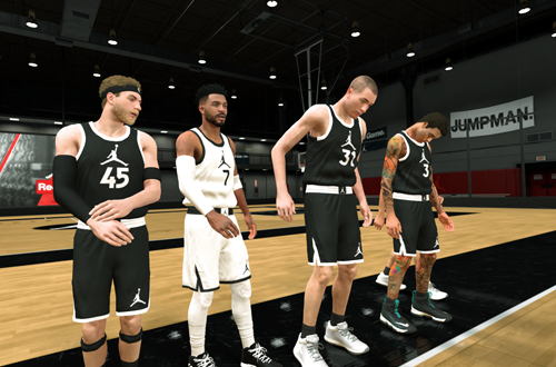 Jersey Glitch in the Jordan Rec Center (NBA 2K19)