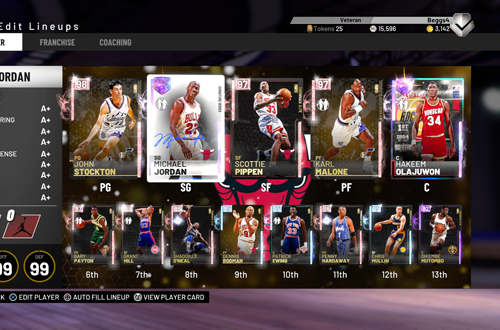 90s All-Stars Lineup in MyTEAM (NBA 2K19)