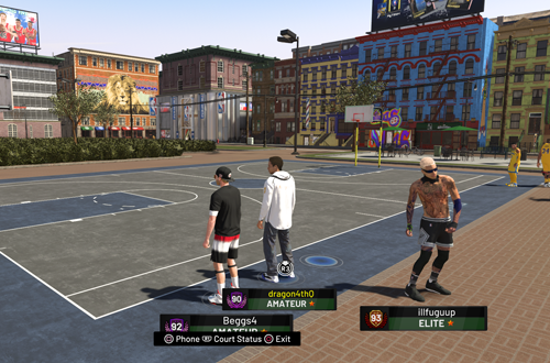 Waiting to play in The Playground (NBA 2K19)