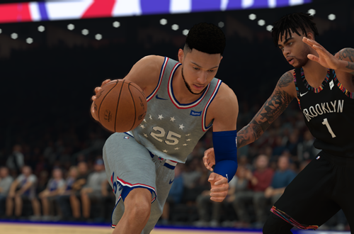 Ben Simmons drives in NBA 2K19