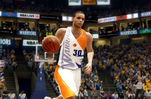 Stephen Curry in the Fictional Gold Standard Jersey (NBA Live 10)