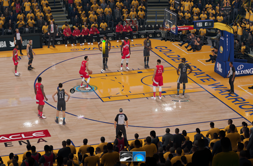 Shooting a free throw in NBA Live 19