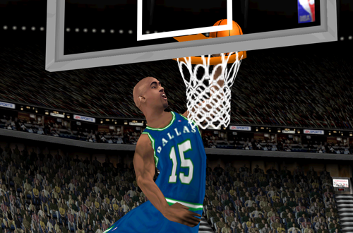 Vince Carter on the Dallas Mavericks (NBA Live 2000)