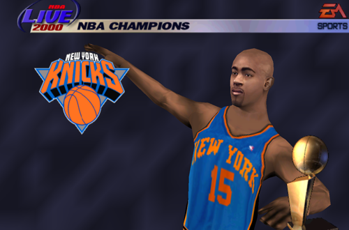 New York Knicks Championship in NBA Live 2000