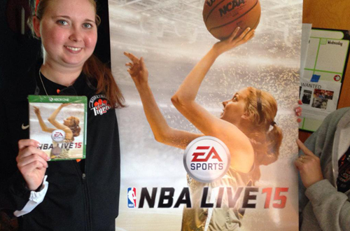 Wholesome Moments: Lauren Hill NBA Live 15 Cover