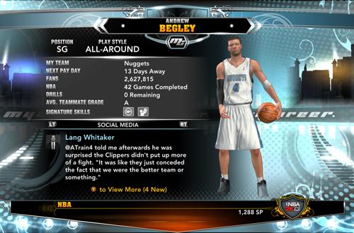 MyCAREER in NBA 2K13