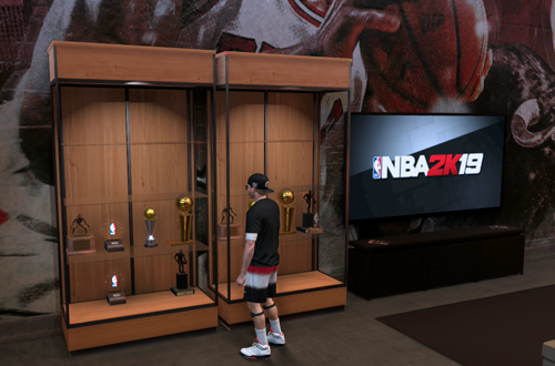 Trophy Case in MyCOURT (NBA 2K19)