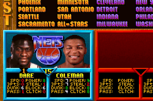 Yinka Dare Ratings in NBA Jam Tournament Edition