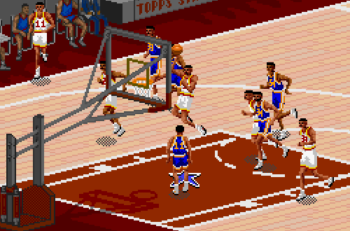 Hakeem Olajuwon in NBA Live 95 SNES