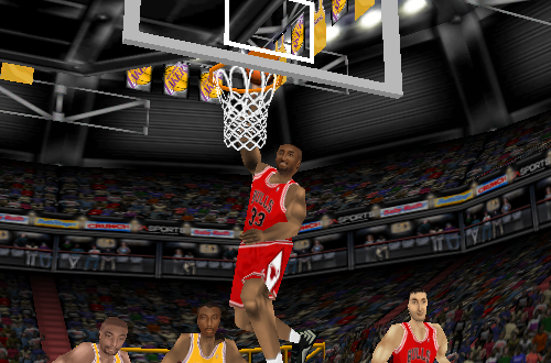Scottie Pippen dunks in NBA Live 98