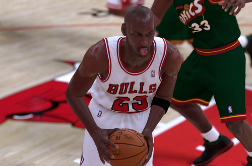 Michael Jordan, Tongue Out (NBA 2K19)