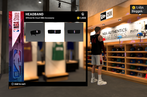 Headbands in the NBA Store (NBA 2K20)