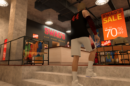 Entering Swag's in NBA 2K20